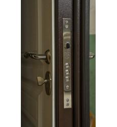 Входная дверь Прайм венге/белая